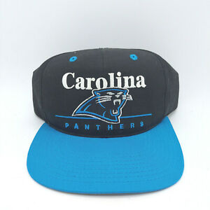 NFL Carolina Panthers Vintage Snapback Hat Black Blue Game Day New with Tag