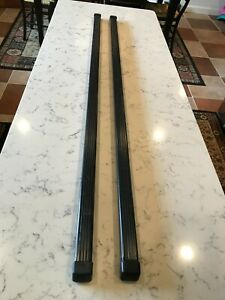"""Pair Thule Square Cross Load Bars 48"""" With End Caps; Nice Used Condition"""