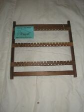 WOOD EARRING RACK 123 WALNUT   WALL MOUNT