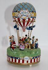 """Liberty Falls Airship Hot Air Balloon Music Box Plays """"Up Up & Away"""" Ah555 1998"""