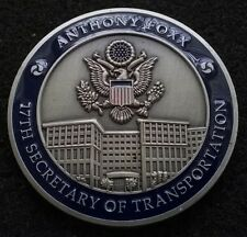 AUTHENTIC Secretary of Transportation Foxx President Cabinet DoD Challenge Coin