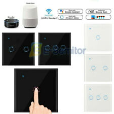 1/2/3 Gang WiFi Smart Light Switch Wall Touch Control For Alexa Google Home