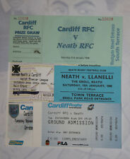 NEATH v CARDIFF RUGBY TICKETS 1990 - 2004 GROUP of 5