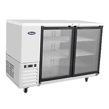 """,Atosa Mbb59G Back Bar Coolers 58"""" 2 Glass Door Stainless Steel"""