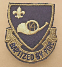40/50'S 187TH F.A. BN OLD 14TH INF RGT OF 42ND DIV NATIONAL GUARD EMB ON TWILL
