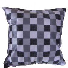 Housse de Coussin 45x45 damier gris noir
