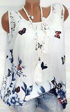 Gr.42-44-46 Süßes Sommer Top Wally (Weiß) Damen Hängerchen Tunika T-Shirt Bluse