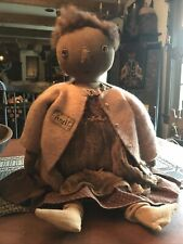 Handmade Primitive Doll by Button Box