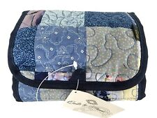 Donna Sharp Patchwork Sapphire Patch Jewelry / Toiletry / Make-up Case