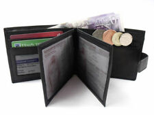MENS PREMIUM HIGH QUALITY LUXURY BLACK LEATHER CREDIT CARD HOLDER WALLET ID