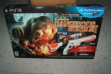 Cabela's Dangerous Hunts 2011 PS3 Wireless Gun & Game Bundle New Sealed