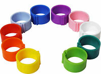 25 x 16 mm Clip On Leg Rings for Chickens, Ducks, Hens, Poultry, Large Fowl