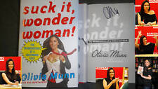 Olivia Munn Signed Suck It Wonder Woman! 1/1 DJ HC PICS