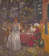 Edouard VUILLARD la terrasse à VASOUY, la boîte lunch A3 Toile