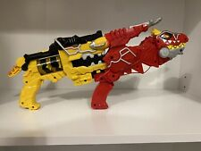 Power Rangers Dino Super Charge Yellow & Red T-Rex Morpher Blaster Set Lot Works
