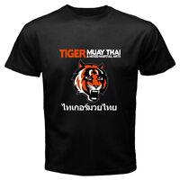 TIGER MUAY THAI MMA Gym Kick Boxing Martial Arts Men's Black T-Shirt Size S-3XL