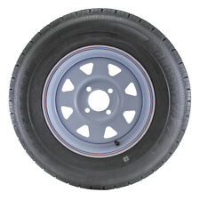ST175/80R13 Globaltrax Trailer Tire LRD on 4 Bolt White Spoke Wheel
