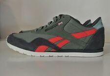 Reebok Womens Fashion Sneakers Classic Green Suede and Nylon  Sz 8.5 NIB