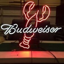 "New Bud Budweiser Lobster Beer Neon Light Sign 17""x14"""