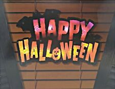 Lighted Happy Halloween Instant Décor Window Decoration - 1 Piece