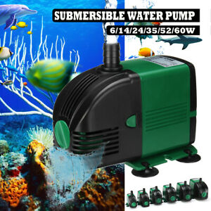 600-2300L/H Submersible Water Spout Pump Aquarium Fish Fountain Marine Tank Pond