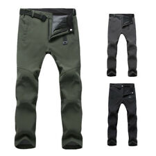Mens Cargo Walking Combat Trousers Waterproof Thick Fleece Climbing Work Pants