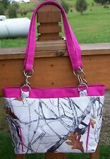 True Timber Snowfall White Camouflage Handbag-Made In USA