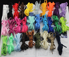 """Flat shoe boot laces 1.6m 160cm 63"""" compatible with 8 eyelets high top Converse"""