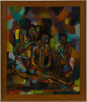 Luzolo D. - Mid 20th Century Oil, Nudes in Colours