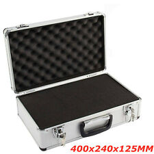 More details for hard aluminium flight carry case foam tool lockable key camera storage box large