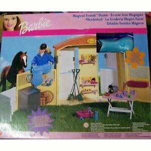 Vintage Mattel Barbie Magical Sounds Stable Barn NEW,2000,Mattel