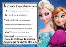 5 cartes invitation anniversaire Disney la reine des neiges 01 d'autres en vente
