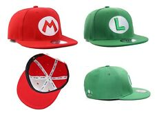True Heads Super Mario & Luigi Red & Green Snapback Baseball Caps Hat Set