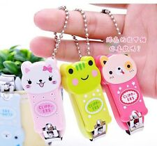 Cute Cartoon Animal Nail Clippers Nail Scissors With Keychain Manicure Kits