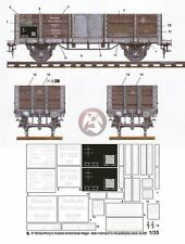 Peddinghaus 1/35 DR Om Breslau High-Side Gondola Wagon Markings (Trumpeter) 1860