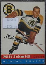 1954-55 BOSTON BRUINS - MILT SCHMIDT - #60 - First Year Topps TCG - NCC