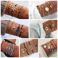 Conjunto de joyas de mujer Pulseras de cadena de cristal de piedra de cuerda