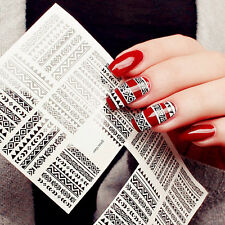 1 sheet Tribal Geo Pattern Nail Water Decals Nail Stickers Accessories