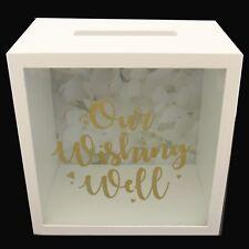 NEW Wedding Wishing Well Gift Card MDF Money Box Cardholder Engagement Gift