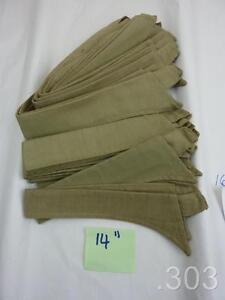 "c. WWII British Military Army KD Khaki Drill Collar for Collarless Shirt 14"""