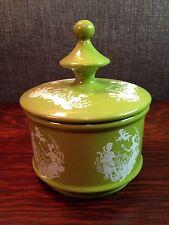 Vintage Florentine Porcelain Ceramic Covered Jar w/lid Made in Italy