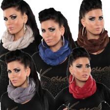 Unifarbene Damen-Schals mit Strickware