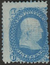 1868 1¢ Franklin, E Grill, #86 Vg, Most Original Gum; Strong Grill, Color $3,000