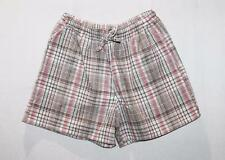 EXPRESSION Brand Brown Check Casual Shorts Size 8-XS BNWT #TD73