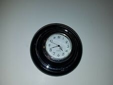 Vintage Vw volkswagen bug oval window bus black steering wheel horn button clock