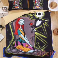 Nightmare Before Christmas Bedding Set Jack Sally With Rose Duvet Cover Queen