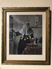 More details for original pastel johannes vermeer style painting signed
