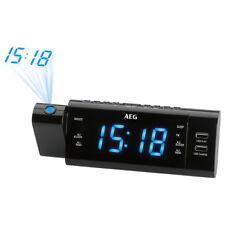 Radio reloj despertador proyector digital 2xUSB gran pantalla 2 alarmas AEG