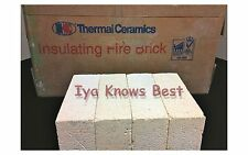"K-20 Insulating Firebrick 9X4.5X .50"" IFB Straight INDIVIDUAL Fire Brick 1/2 in."