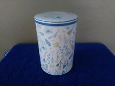 Grace Fine Porcelain Canister White with Pastels